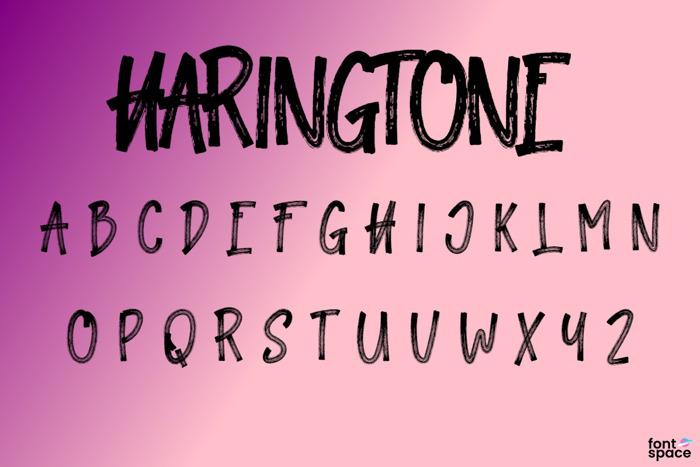 Haringtone Font poster
