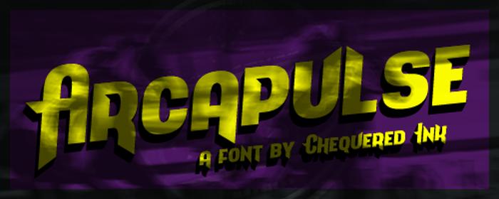 Arcapulse Font poster