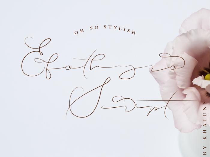 Efothyro Script Font poster