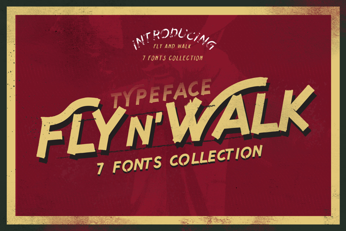 Fly n Walk  Font poster