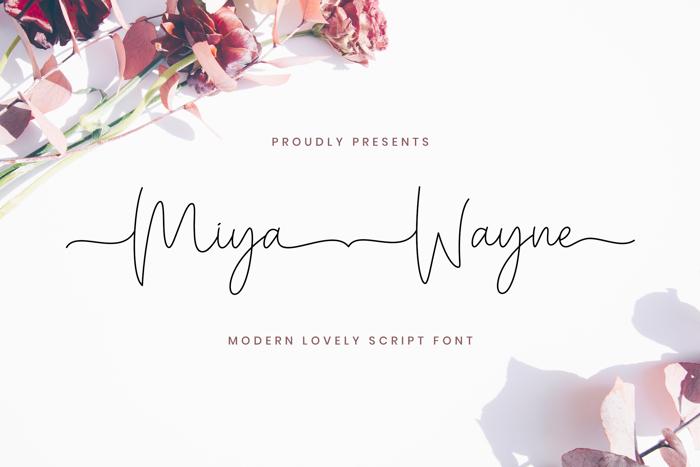 Miya Wayne Font poster