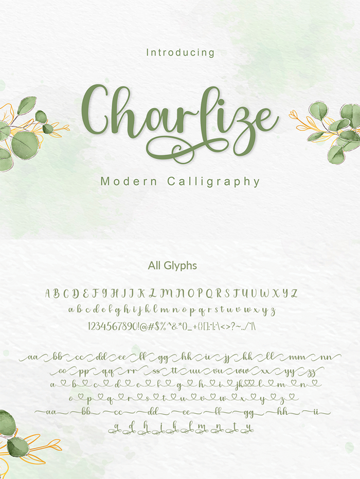 Charlize Font poster