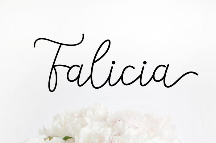 Falicia Font poster