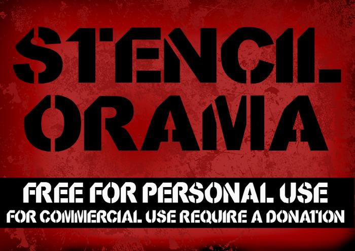 CF StencilOrama Font poster