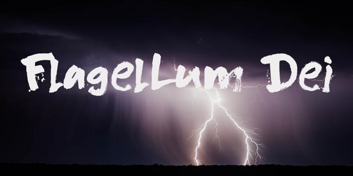 DK Flagellum Dei Font poster