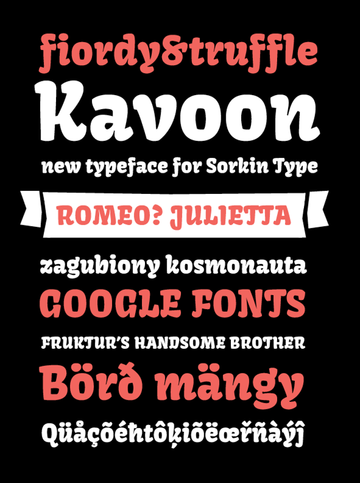 Kavoon Font poster