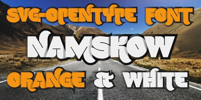 Namskow Font poster