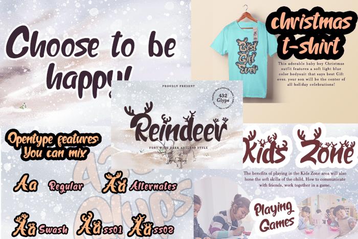Reindeer Font poster