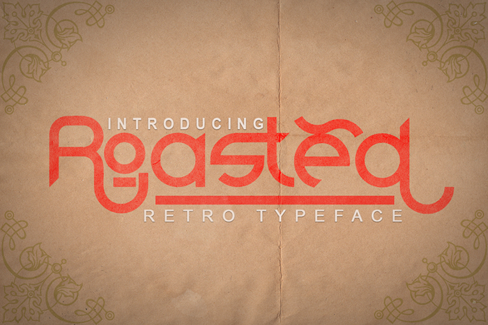 Roasted Font poster