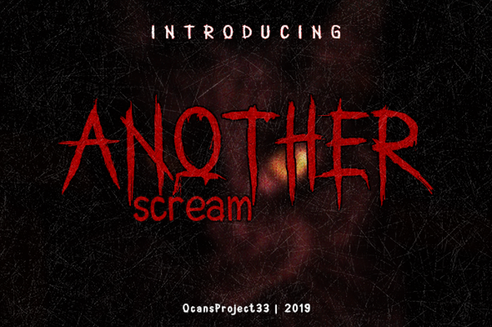 Another Scream Font poster