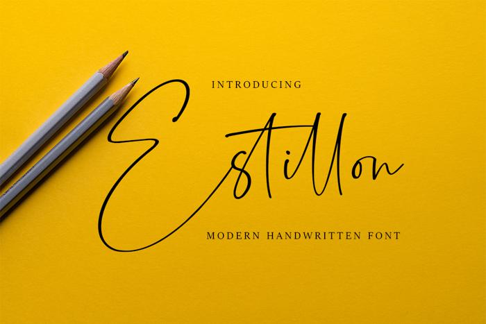 Estillon Font poster
