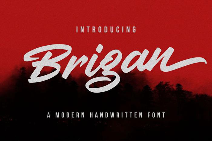 Brigan Font poster