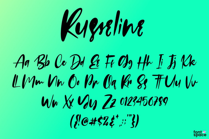 Russeline Font poster