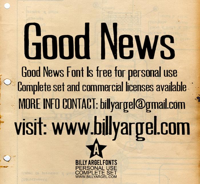 GOOD NEWS Font poster
