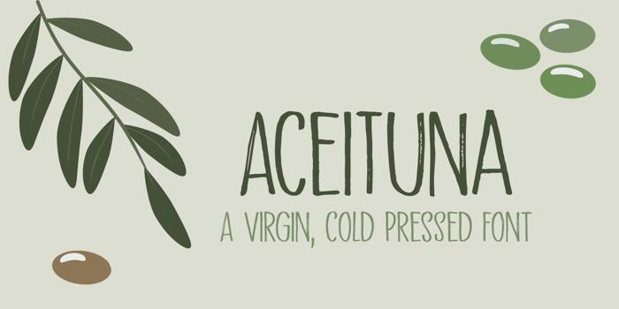 Aceituna DEMO Font poster