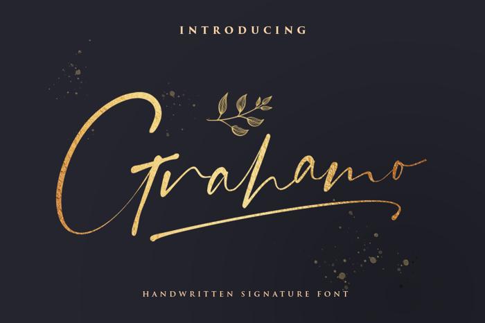 Grahamo Font poster