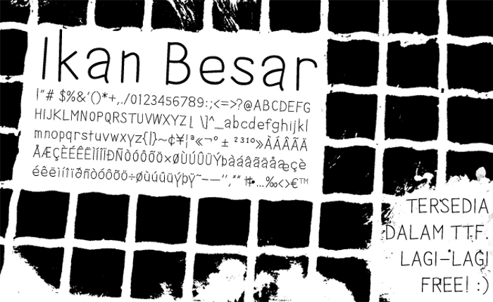 Ikan Besar Font poster