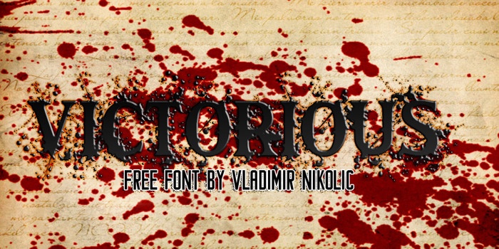 Victorious Font poster