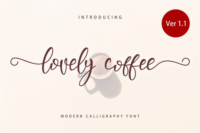 Lovely Coffee Font poster