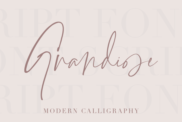 Grandiose Font poster