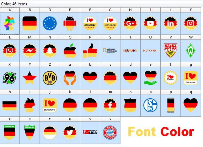 Font Color Germany poster