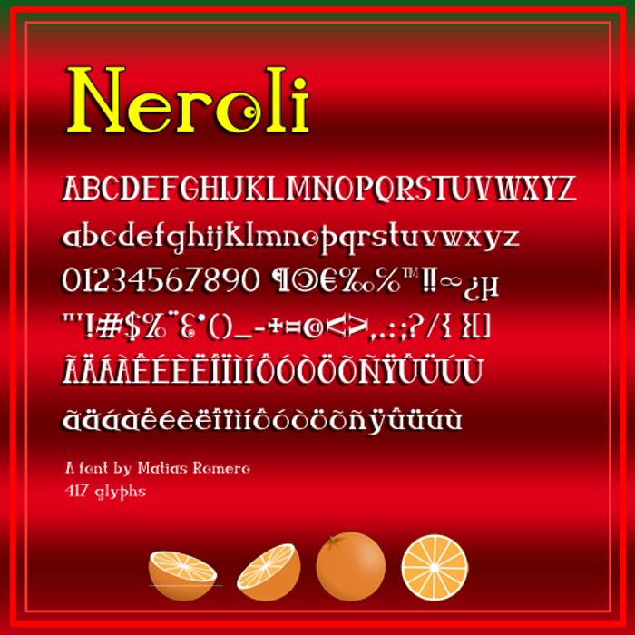 Neroli Font poster