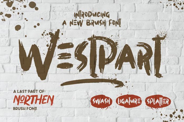 Westpart Font poster
