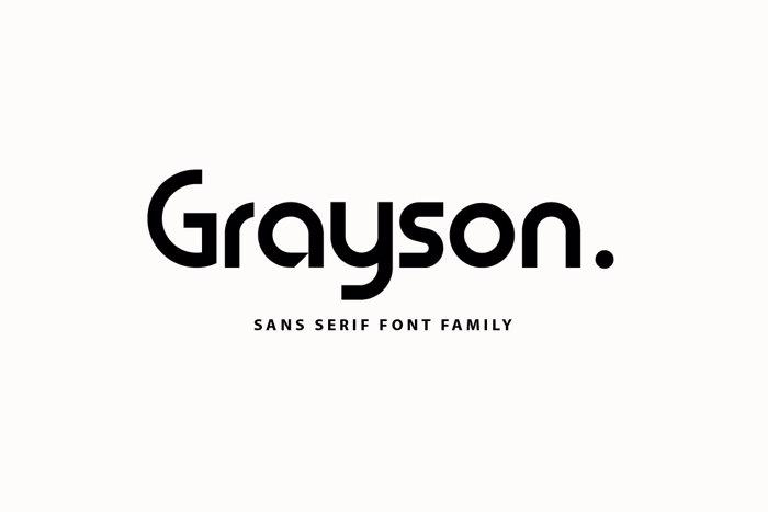 Grayson Font poster