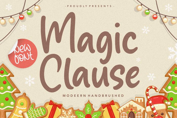 Magic Clause Font poster
