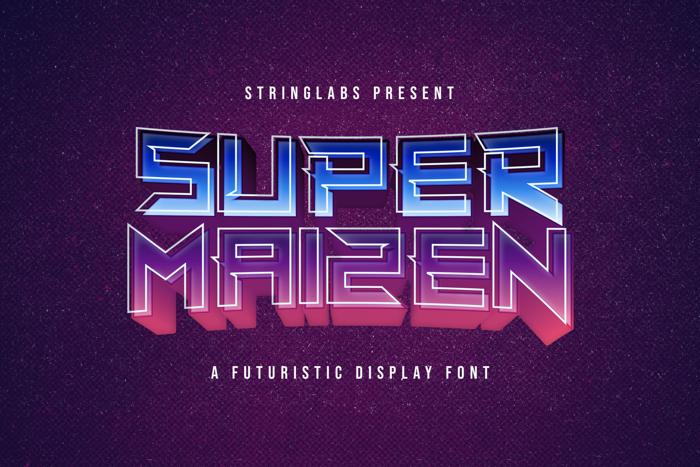 Super Maizen Font poster