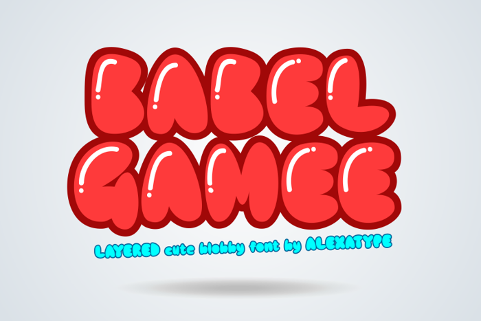 BABEL GAMEE Font poster