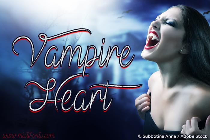 Mf Vampire Heart Font poster