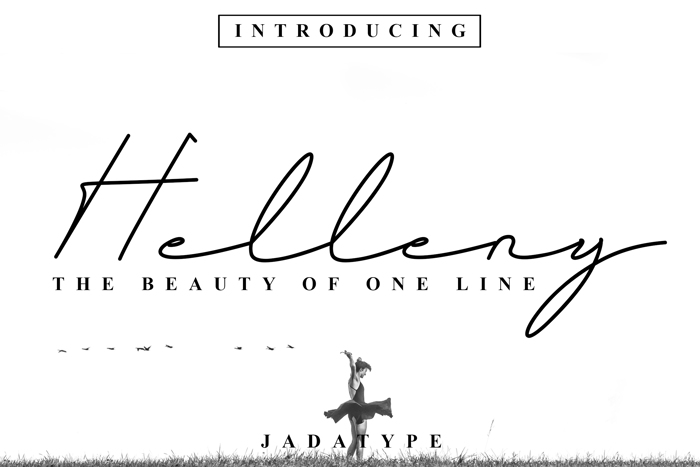 Helleny Font poster
