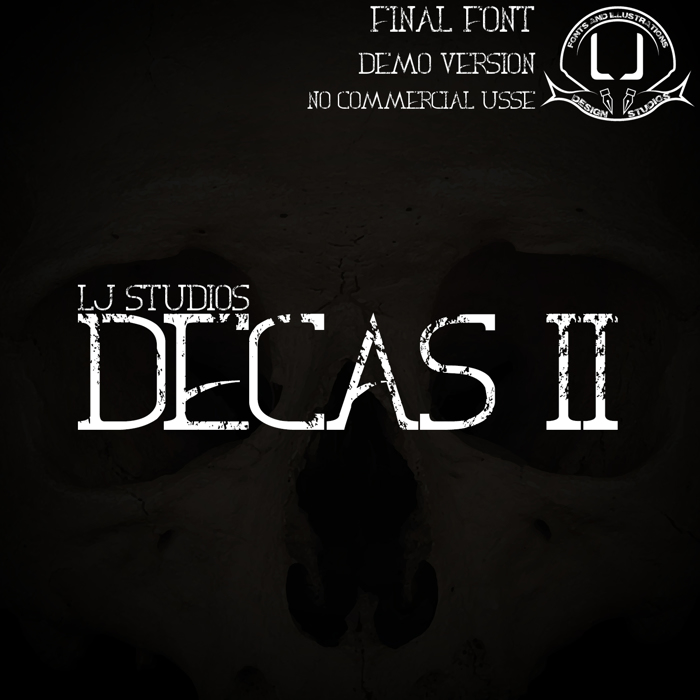 Decas II Font poster