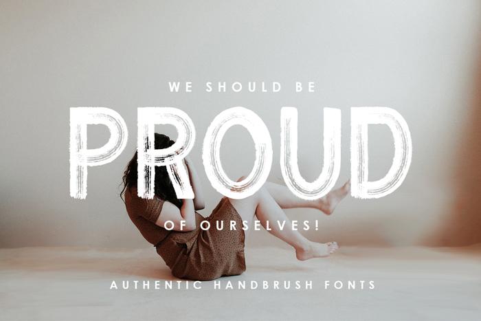 Proud Font poster