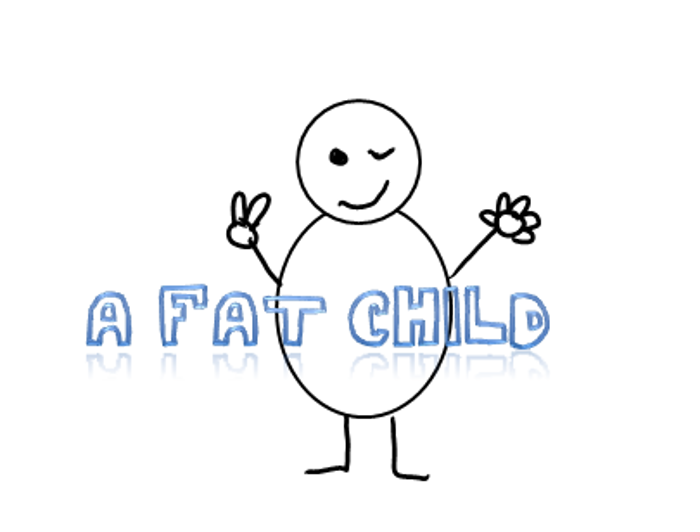 A fat child Font poster