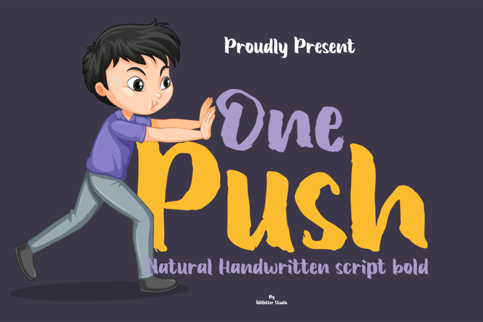One Push Font poster