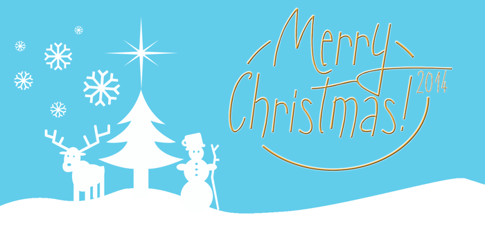 Sunny Merry Christmas Font poster