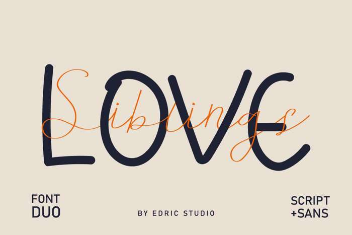 Siblings Love Font poster