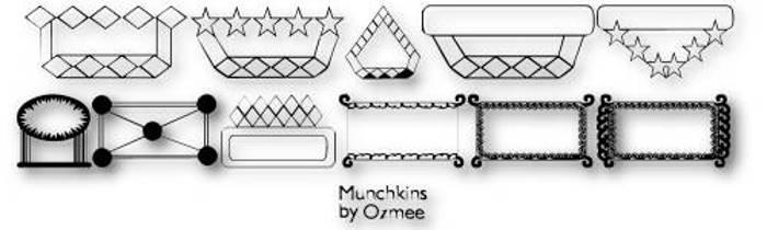 Munchkins Font poster