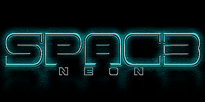 Spac3 neon Font poster