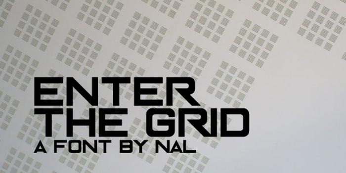 Enter The Grid Font poster