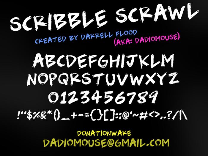 Scribble Scrawl Font