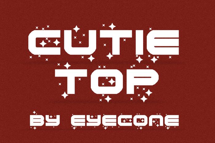 Cutie Top Font poster
