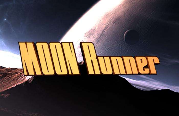 MOON Runner Font poster