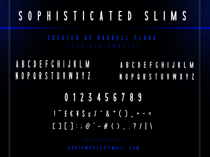 Sophisticated Slims Font poster