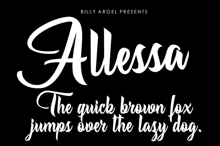 Allessa Font poster