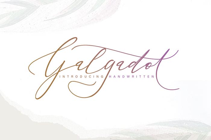 galgadot Font poster