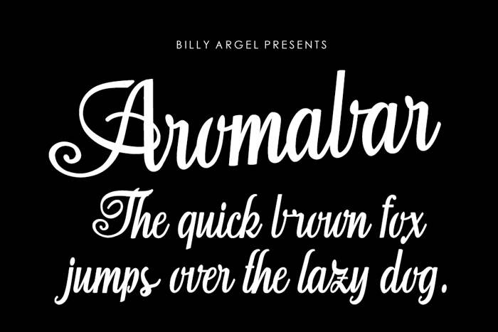 Aromabar Font poster
