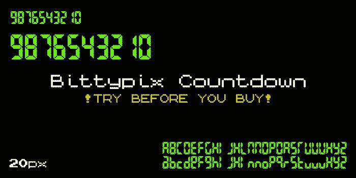 Bittypix Countdown Font poster